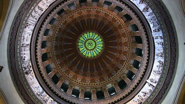 Illinois Capitol dome interior
